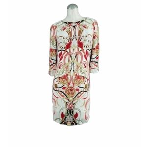 3/$25 Julio Size 2 Floral Dress Off White Red